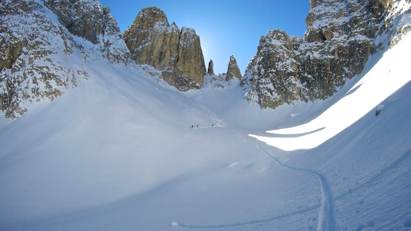 Cadini di Misurina: Forcella Rinbianco - Forcella del Nevaio